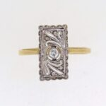 Edwardian Diamond Plaque Ring