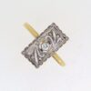 Edwardian Diamond Plaque Ring