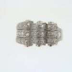 Edwardian Three Row Diamond Cluster Ring
